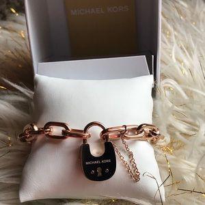 MK lock bracelet